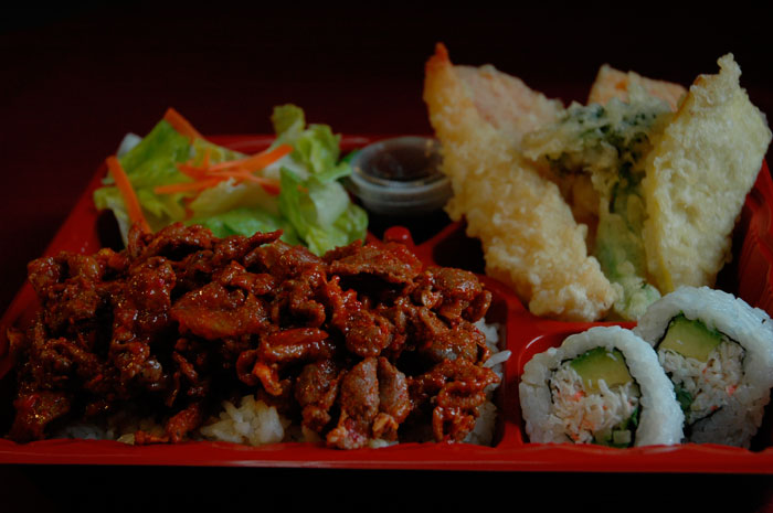 Spicy-Pork-teriyaki-bento-combo-A